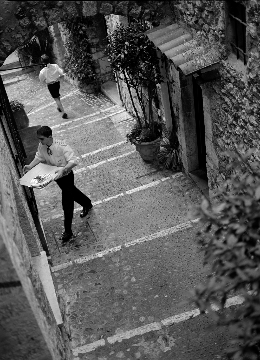 Waiters, St. Paul de Vence, France, 2002.jpg