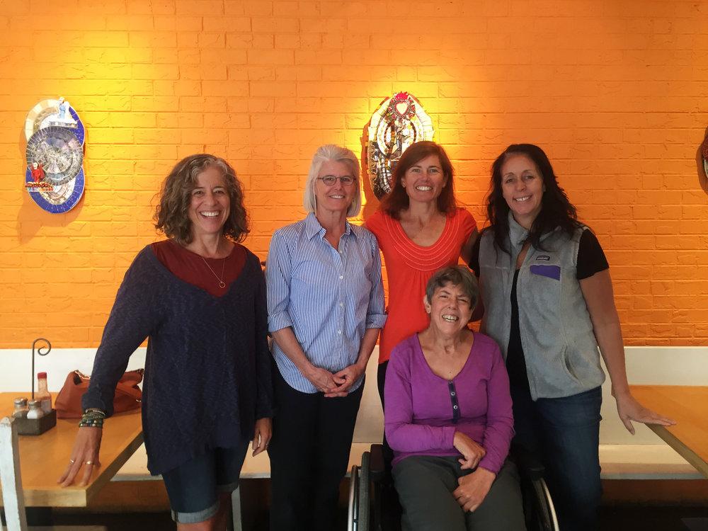 Karen, in purple, with her team of helpers.