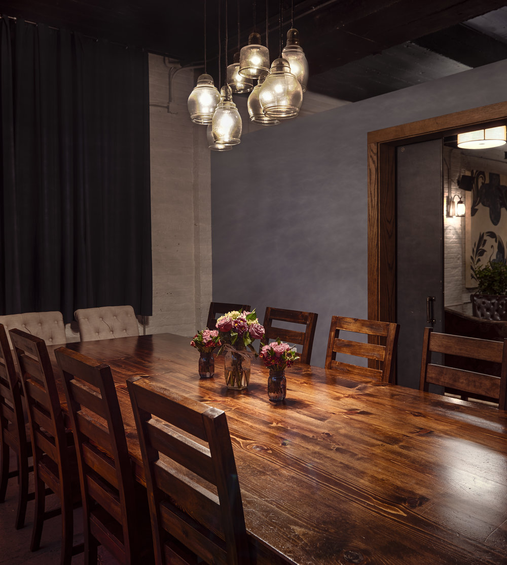 Private Rooms - Entertain friends, clients, or family (21+ of course!) in one of our private room options. Let us set the table and handle the cleanup while you sit back and accept all the gratitude of your guests for hosting such a great night out!