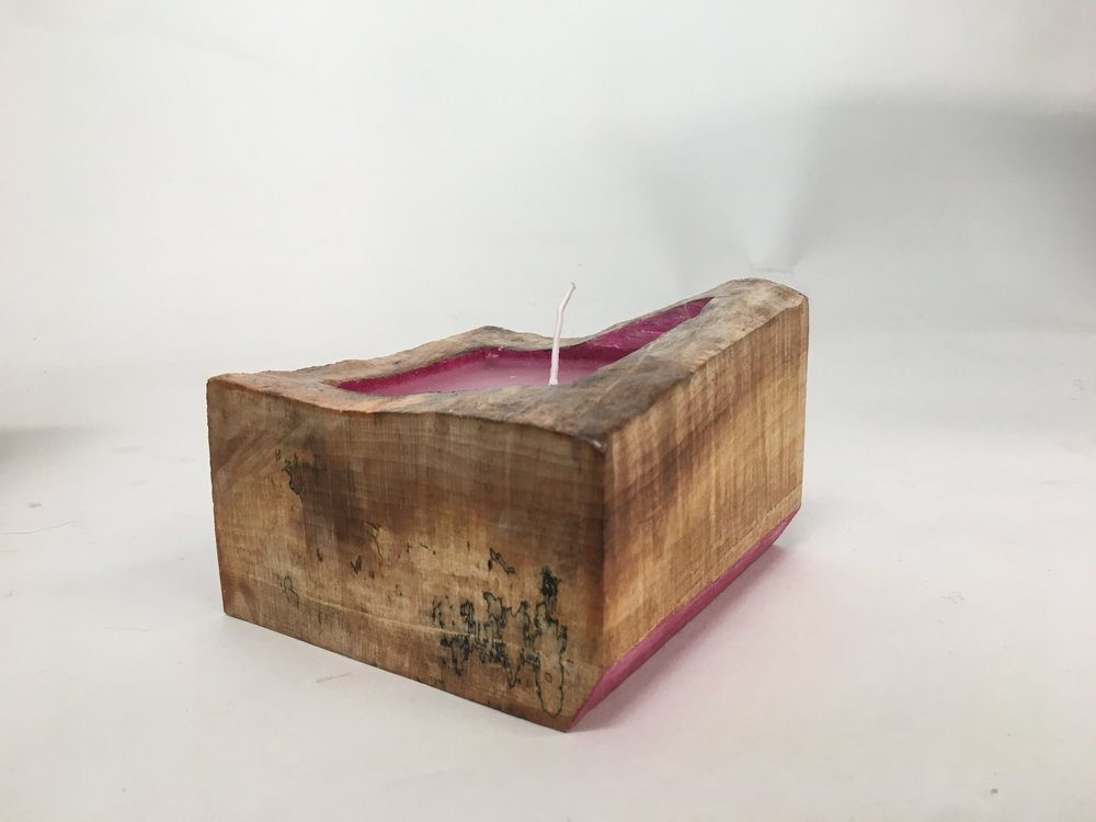 Spalted Maple Candle, 2016