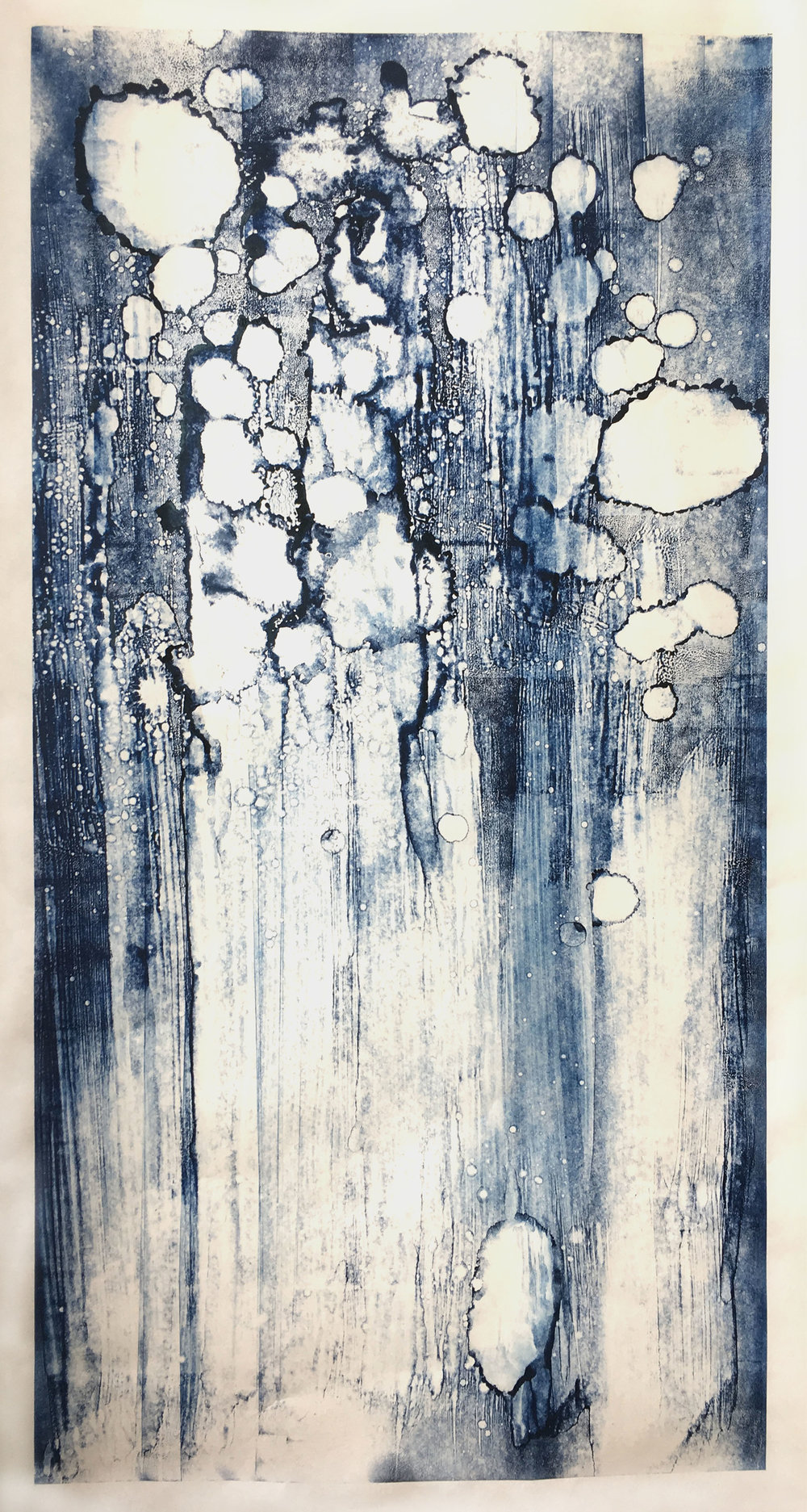 Monoprint, Oil Ink on Mulberry Paper, 2017