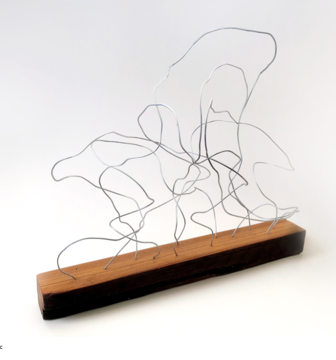Wire and Antique Pine, 2017