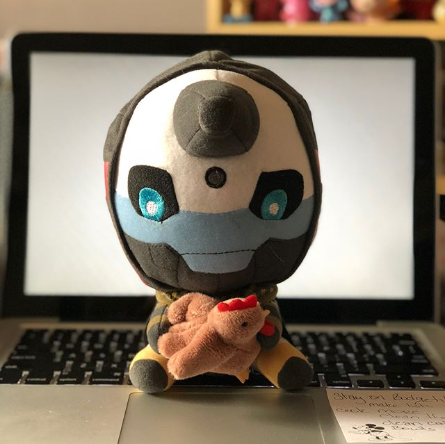 A collection. Destiny 2 Cayde-6 plush, DOTA 2 Mirana nendoroid, Zarya Cute but Deadly and a Gears of War Lancer. Sometimes I want to display everything at once! #destiny2 #cayde6 #overwatch #dota2 #gearsofwar4 #gamer #collection