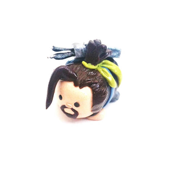Overwatch Hanzo Inspired lil'Chubbie Polymer Clay Miniature Figure