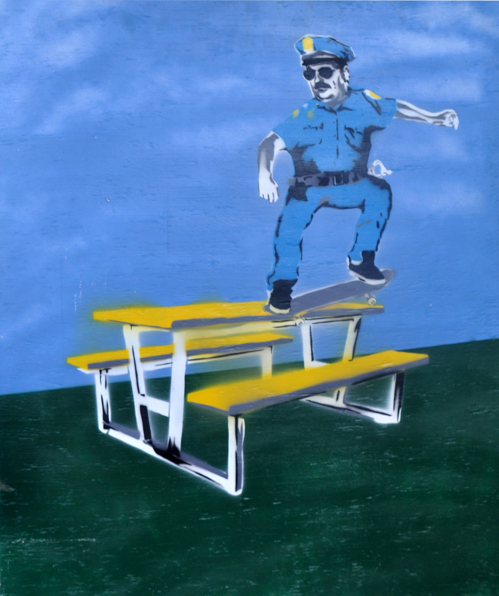 crooked cop stencil 38 x 31 on wood-one of a kind.jpg