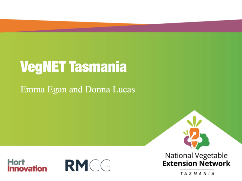 VegNET Tasmania - Presented at Simplot Roberts Industry Forum July 2017The presentation focuses on cover crops in vegetable production systems, including the risks, benefits and considerations.