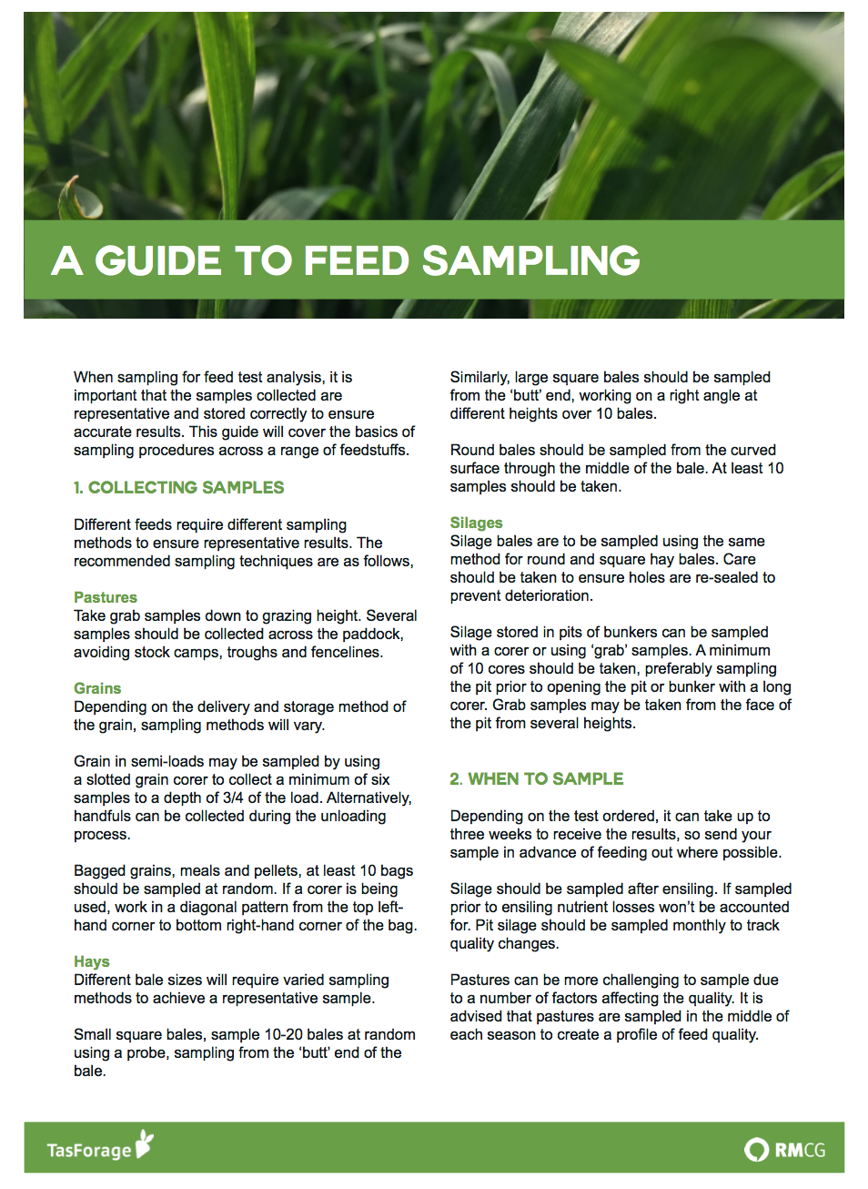 A Guide to Feed Sampling