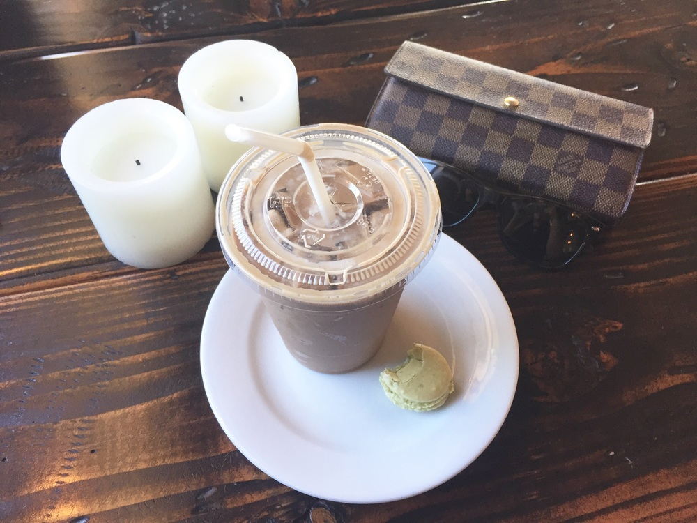 Iced Peppermint Latte  Keylime Macaron
