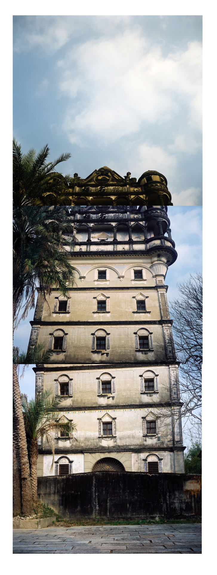 Kaiping, tower collage.