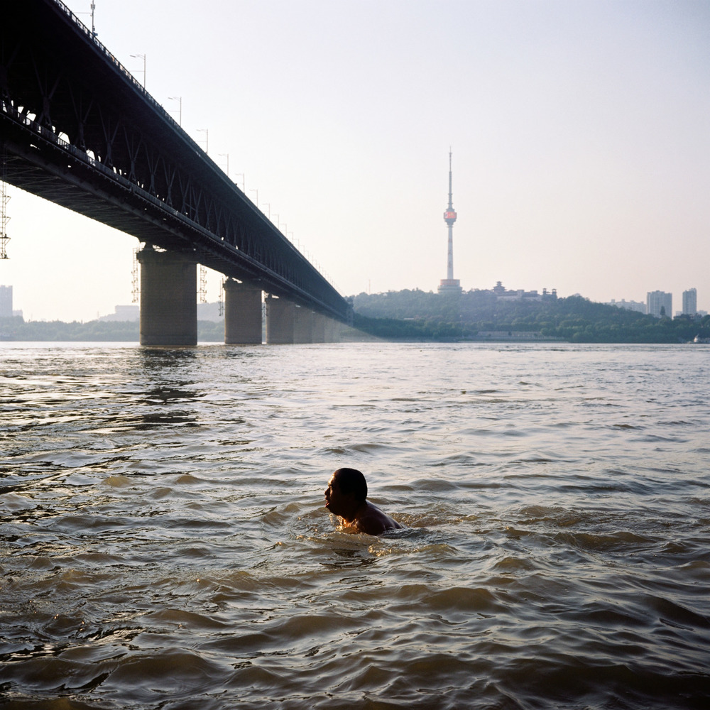 Swimming in Wuhan.