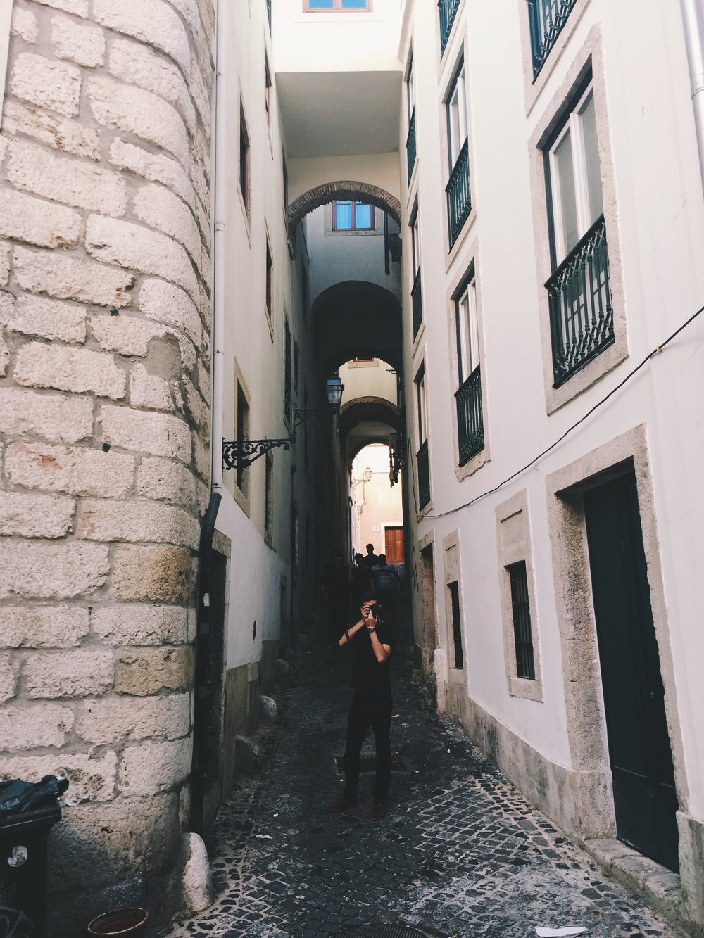 Getting all meta in Alfama's alleyways with Matthew Ryan