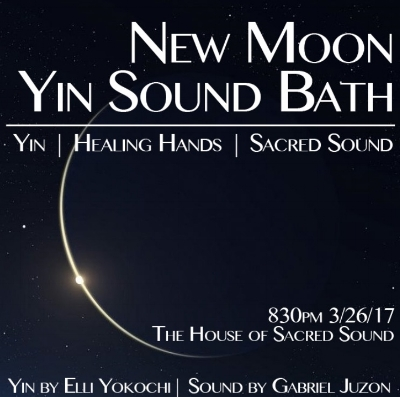 new moon yin sound bath