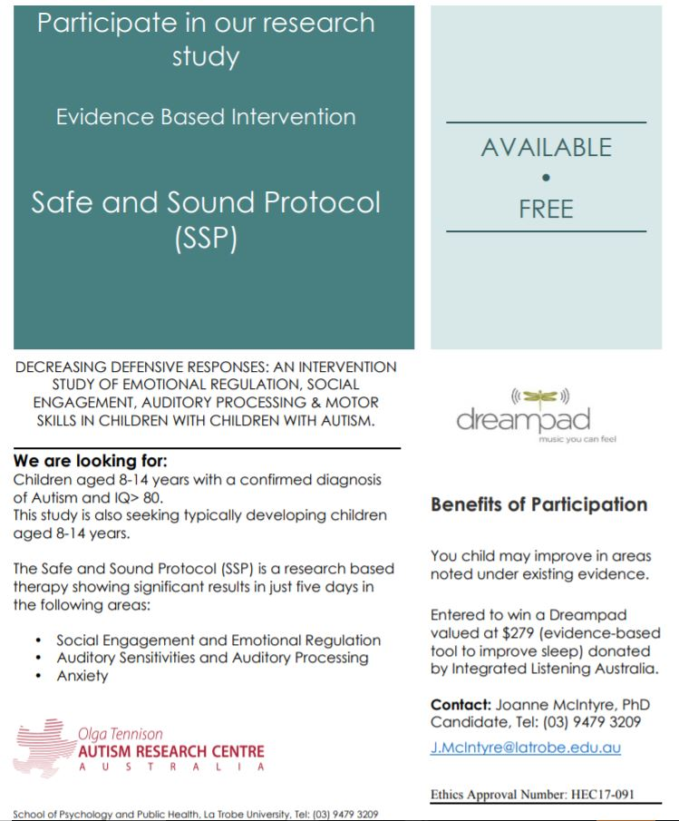 LeTrobe Uni - ASD sound protcol - Study Flyer.JPG