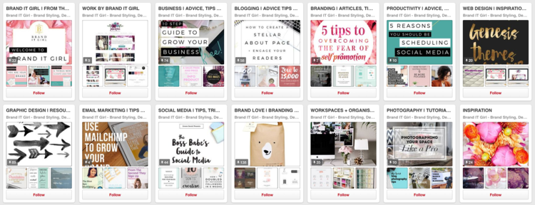 Brand IT Girl - Pinterest Boards Before Branding