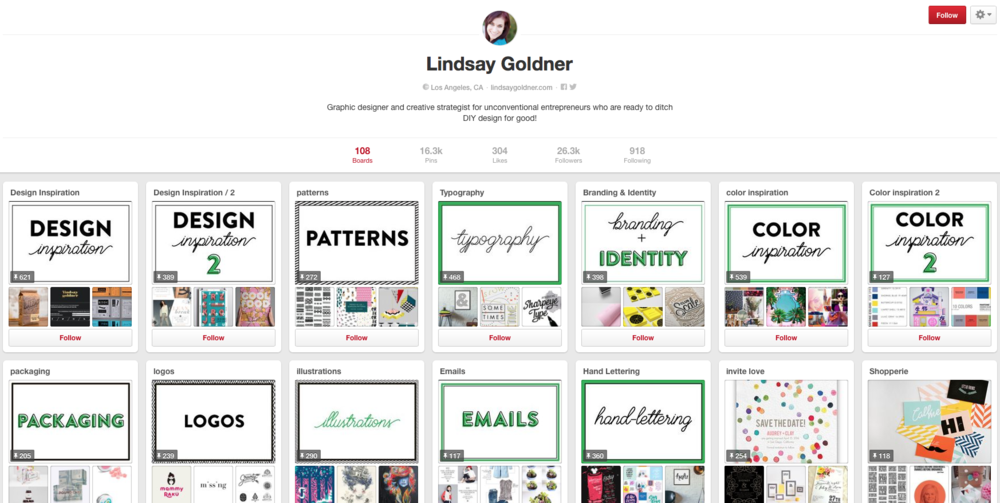 Lindsay Goldner Pinterest Branded Cover Photos