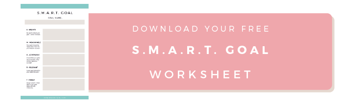 Start with SMART Goals iN THE NEW YEAR Brand IT Girl – Smart Goals Worksheet