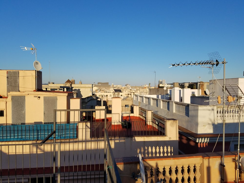 View of the rooftops