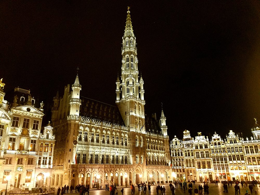 Grand Place of Brussels at night