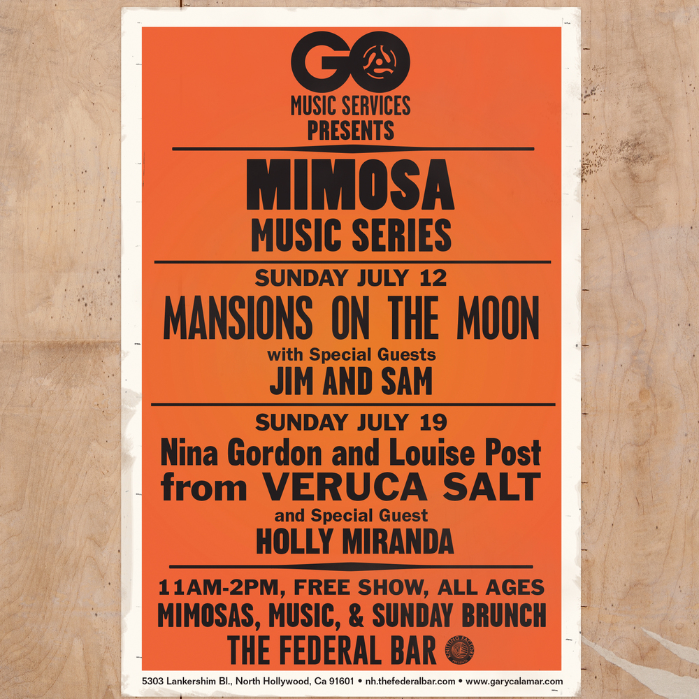 Mimosa Music Series, Flyer