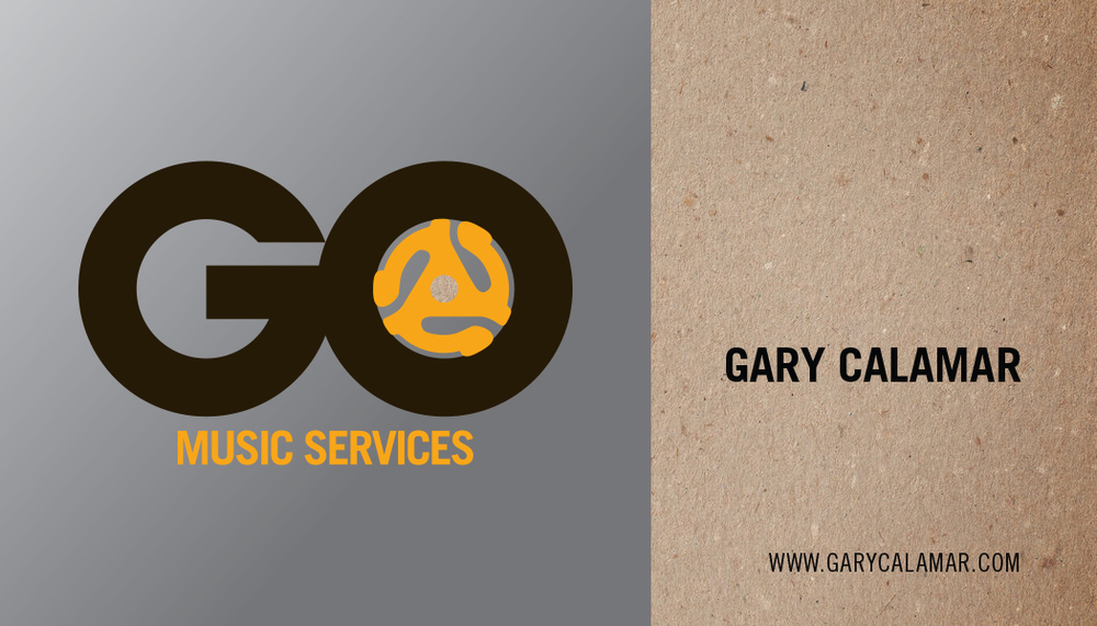 Gary Calamar / Go Music, Business Card