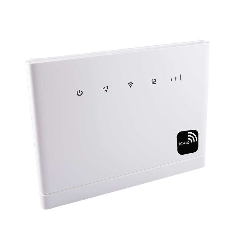 En stærk router, der gør det muligt at komme på nettet, selv i områder med begrænset dækning.  999 kr. + 45 kr. fragt (router + datakort)