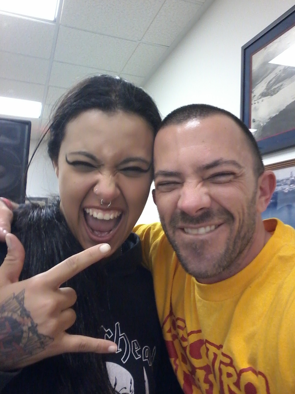 with Fernanda Lira of NERVOSA. Bell Gardens, CA.