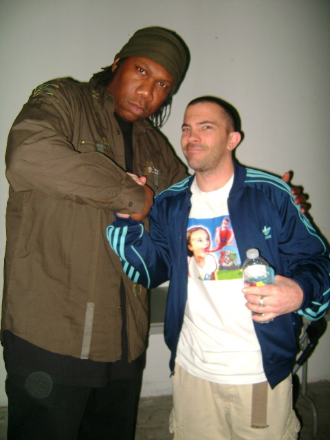 with KRS One before we rock the show. Los Angeles.