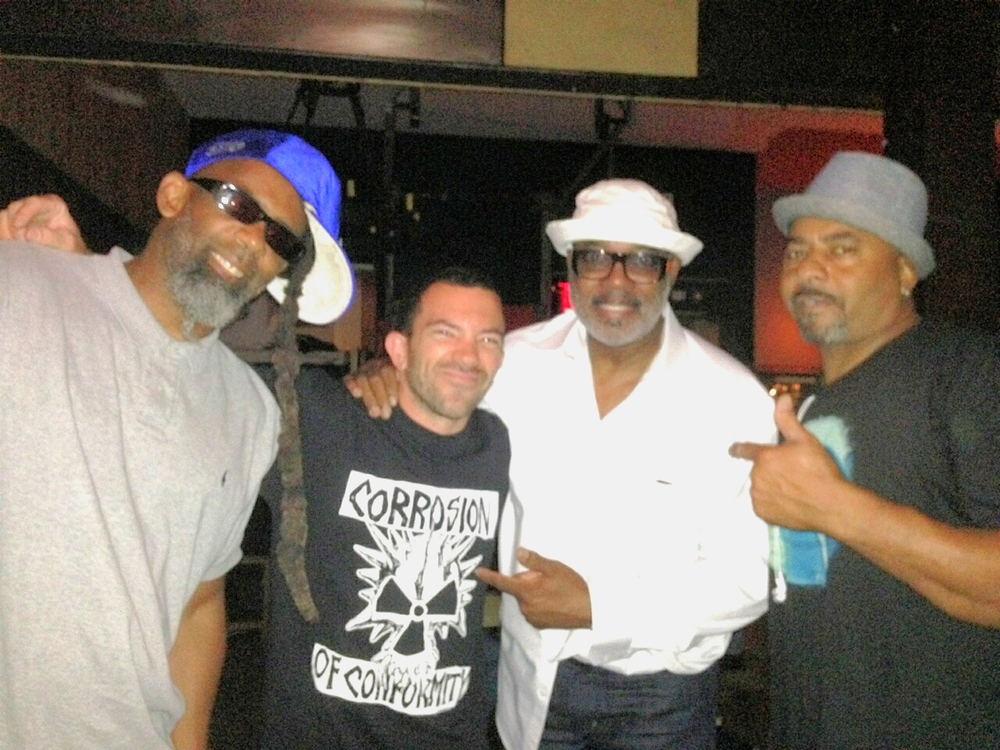 Norwood Fisher, Peyote Cody, Harvey Mason, & John 'Wet Daddy' Steward. Venice 2014.