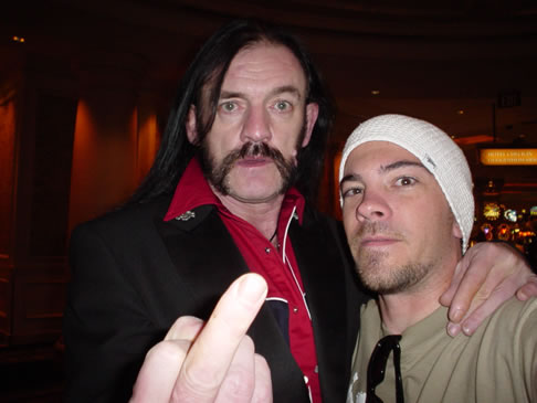 Peyote Cody with Lemmy. Vegas. R.I.P.