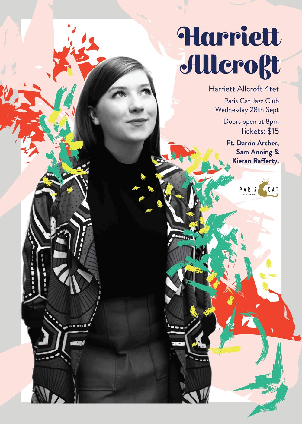- Gig Poster Design For Singer Harriett Allcroft (2016)