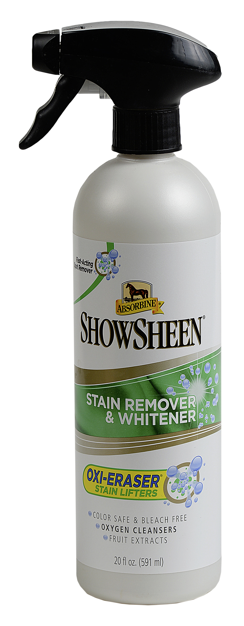 Absorbine ShowSheen Stain Remover and Whitener won our Gear Guide test in November 2015.