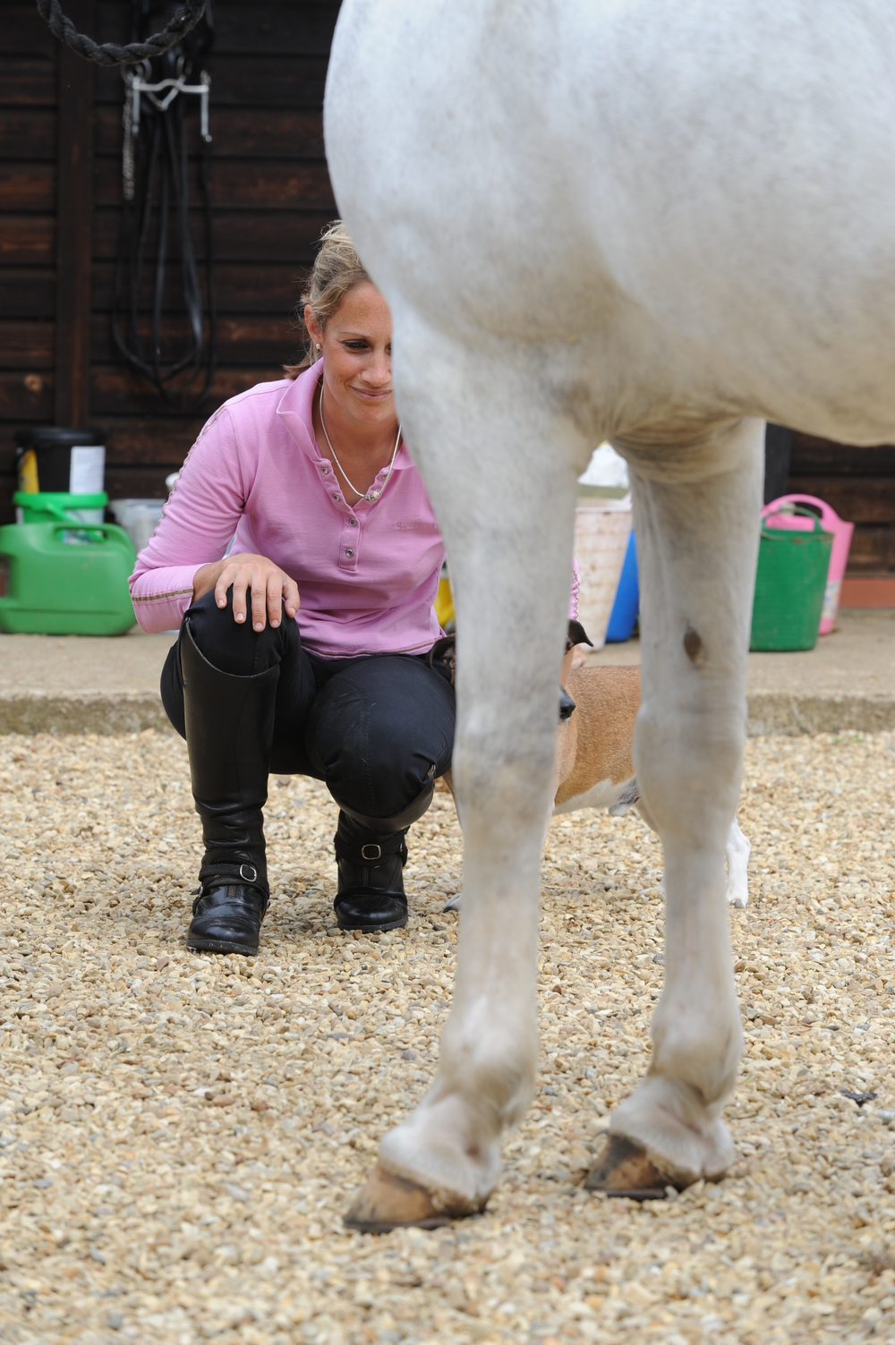 Even simple checks to ensure your horse's feet are the correct shape and healthy will help you to care for his back