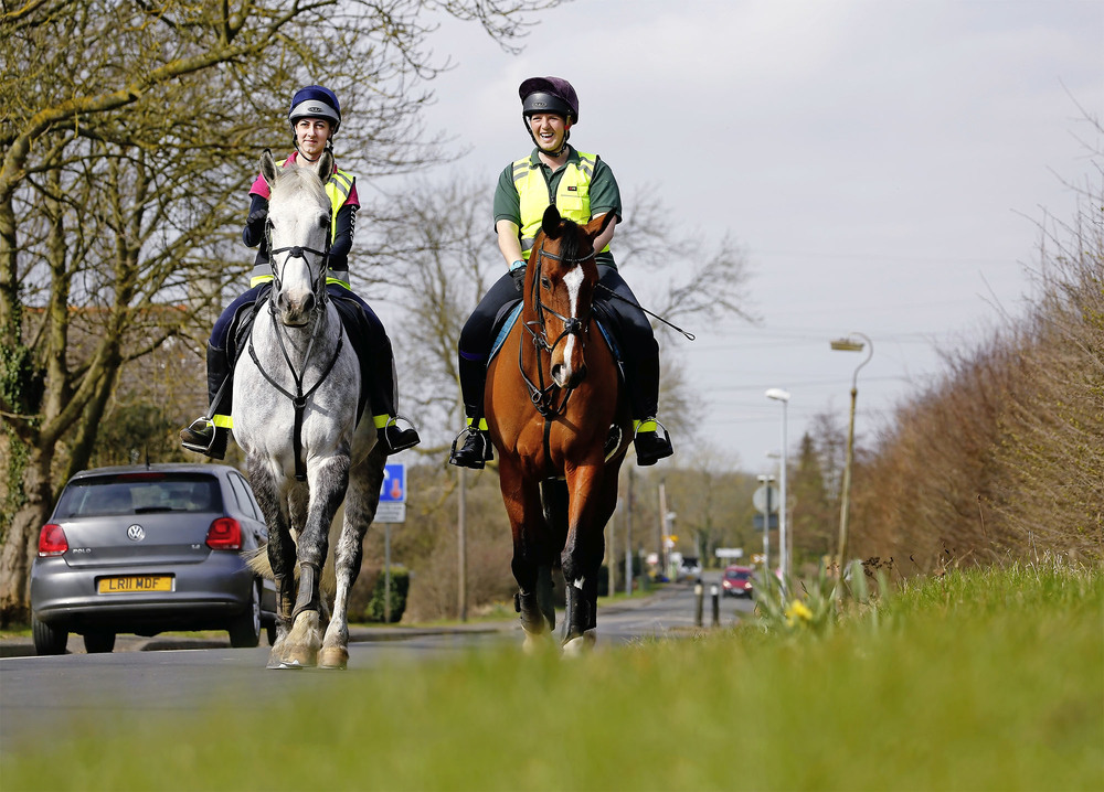 Riding on the roads is a necessity for many horse riders who enjoy hacking. (Image: Your Horse)