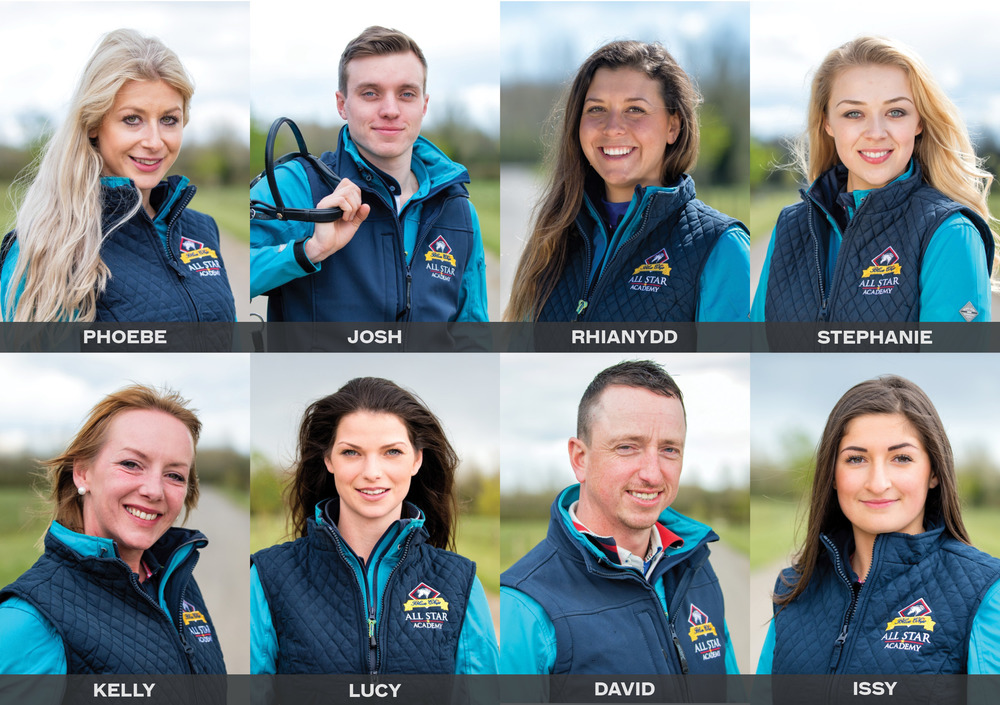 These eight riders will star in the brand new national television series, Blue Chip All Star Academy, on Horse & Country TV
