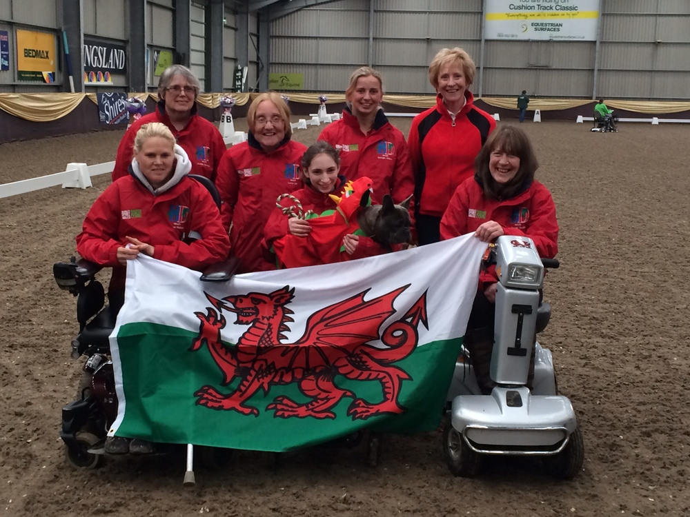 The Welsh team celebrate their win for the third successive year