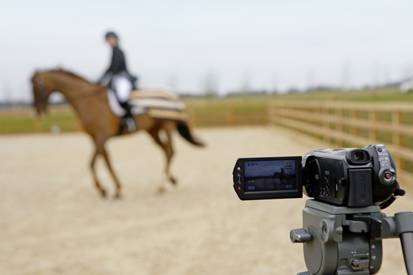 To compete online in dressage all you need is a camera!