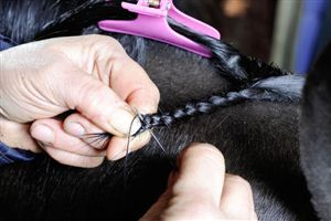 Plaiting using thread gives a neat appearance