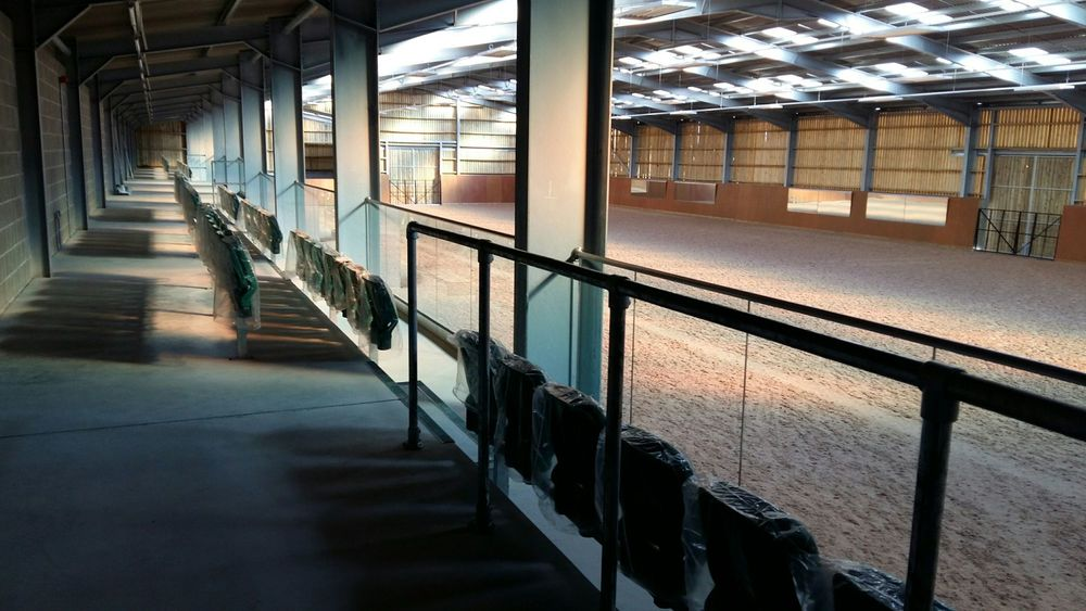 The indoor arena viewing gallery