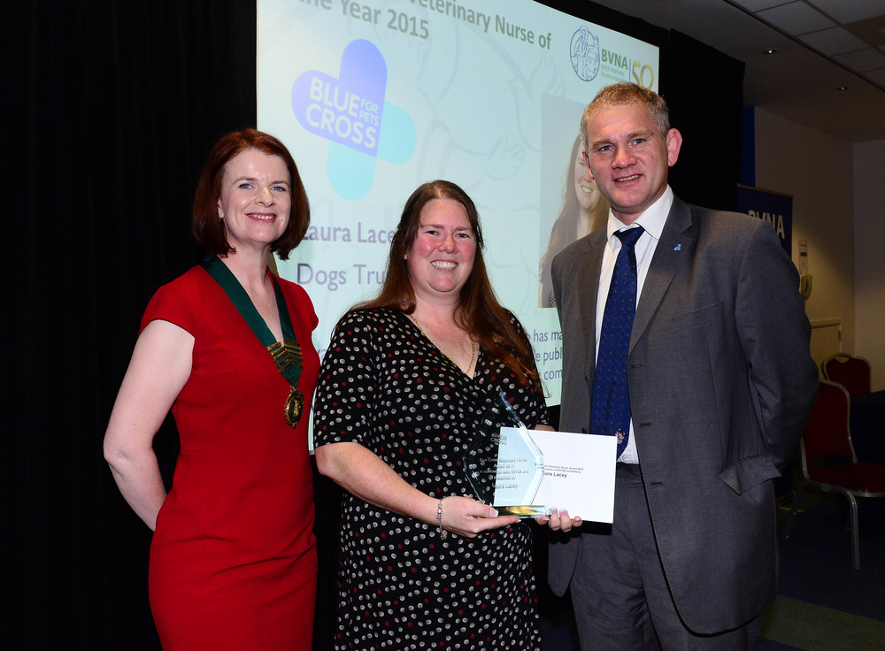 In 2015 the Blue Cross Veterinary Nurse award was presented to Laura Lacey from Chester