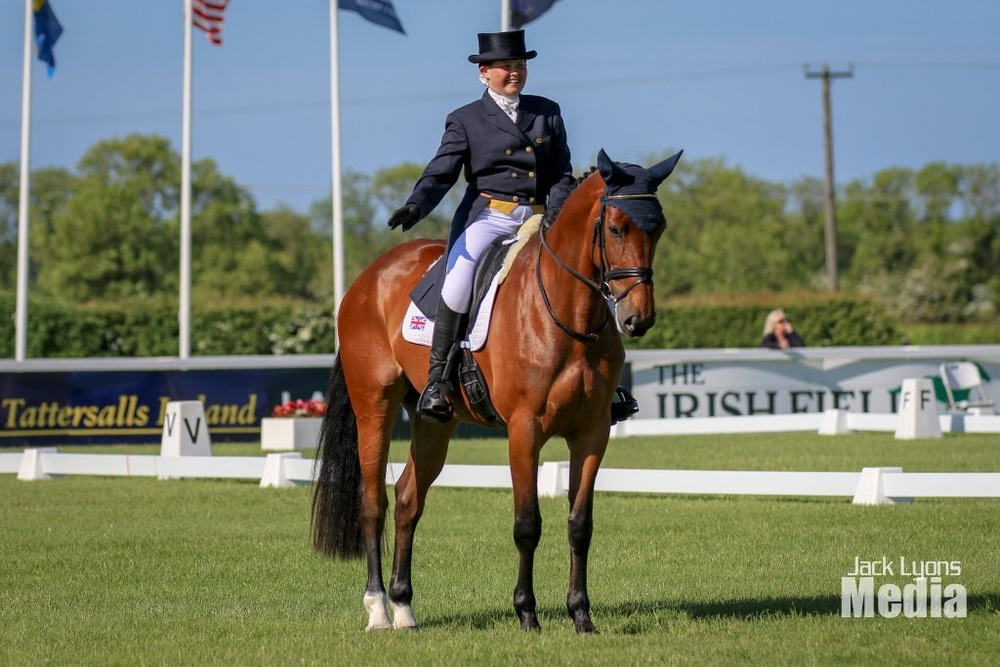 Hannah Francis achieved her dream of riding at Tattersalls in the CCI two-star guinea pig dressage test (Credit: Jack Lyons Media)