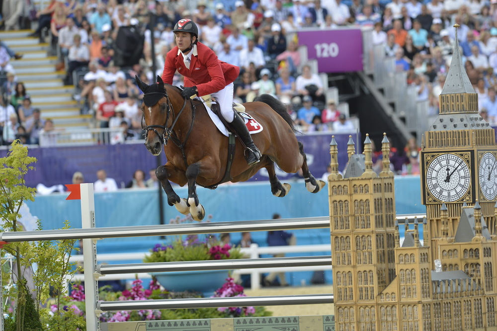 Switzerland's Steve Guerdat and Nino des Buissonnets will be going for a record breaking back-to-back double of individual gold medals in Jumping at the Rio 2016 Olympic Games (FEI/Kit Houghton)