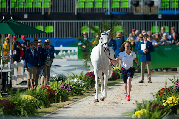 Pippa Funnell trots up Billy The Biz (Credit: BEF/Jon Stroud Media)