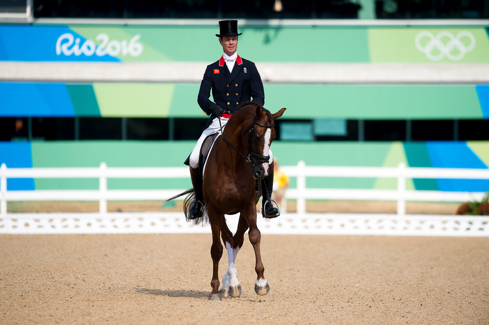 William Fox-Pitt takes the lead on the first day at Rio riding Chilli Morning (Credit: FEI/Jon Stroud Media)