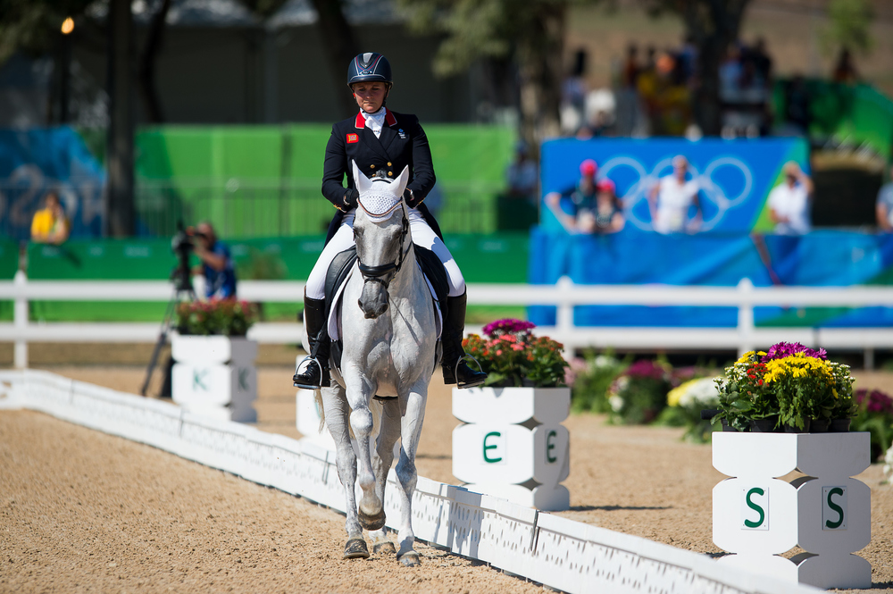 Gemma Tattersall makes her debut Olympic performance with Quicklook V (Credit: BEF/Jon Stroud Media)