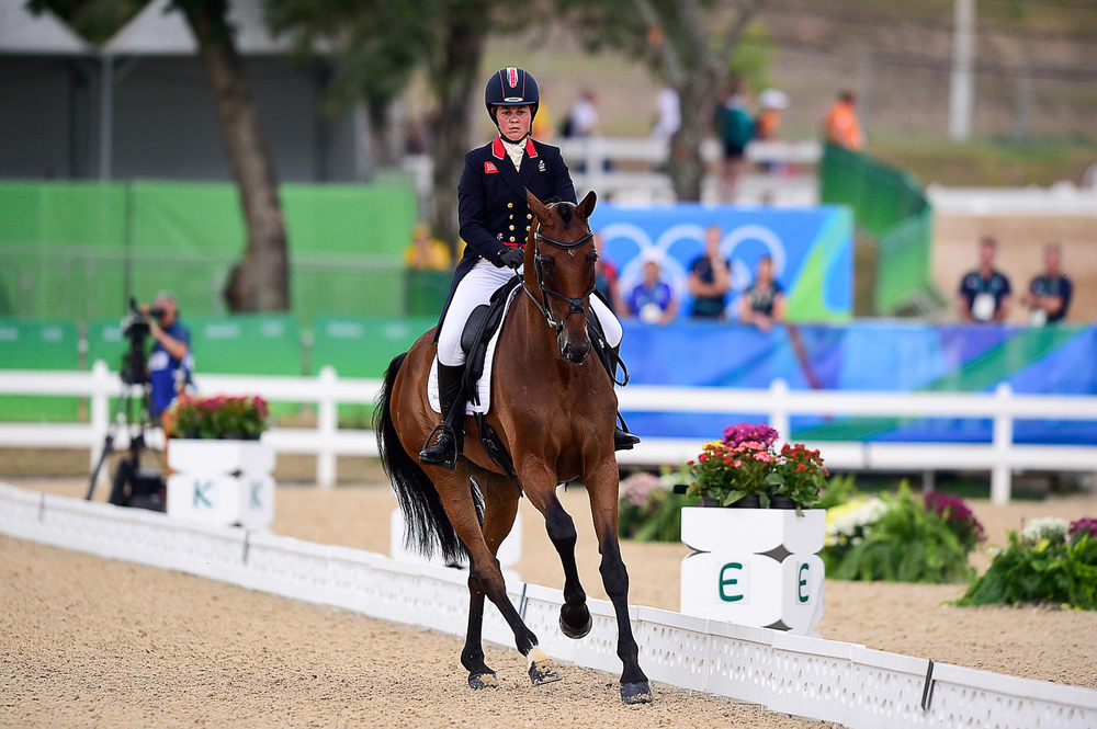Kitty King riding Ceylor L A N on the second dressage day for the eventing competitors (Credit: BEF/Jon Stroud Media)