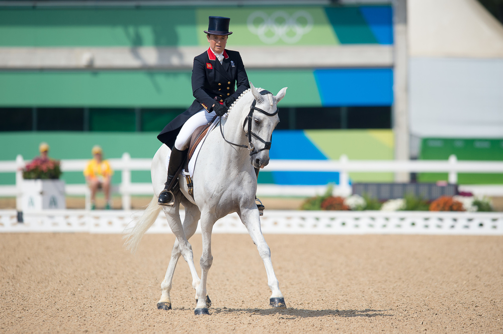 Eventer Pippa Funnell riding Billy The Biz took to the dressage arena today (Credit: BEF/Jon Stroud Media)