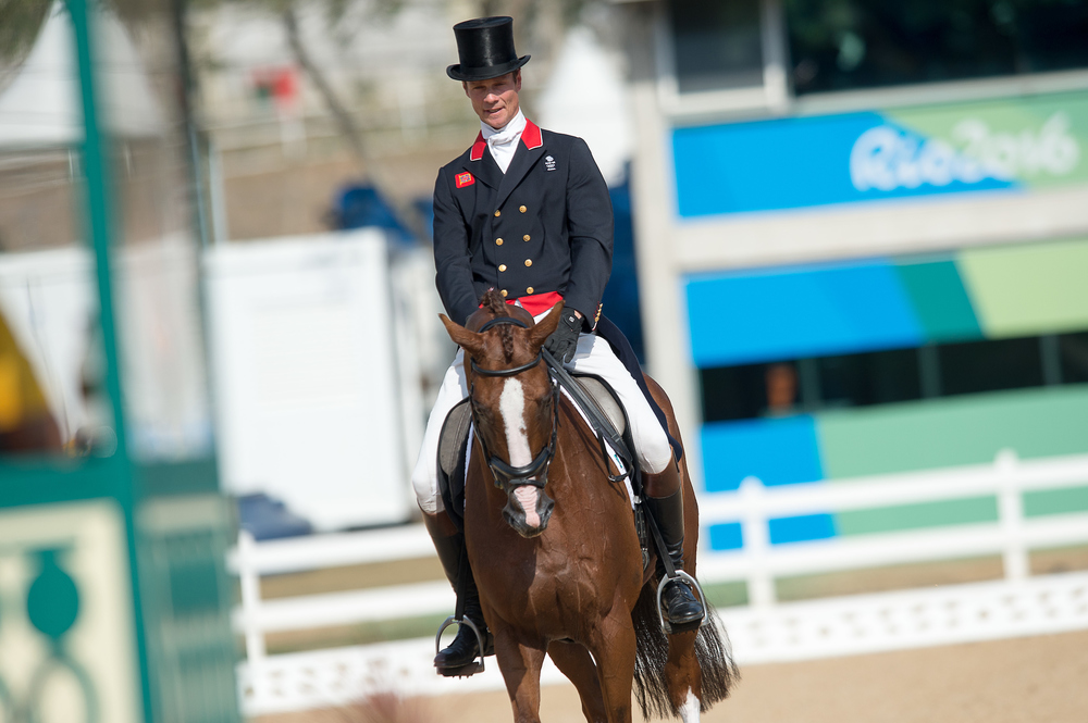 William Fox-Pitt remains in the top position after the dressage stage finishes (Credit: BEF/Jon Stroud Media)