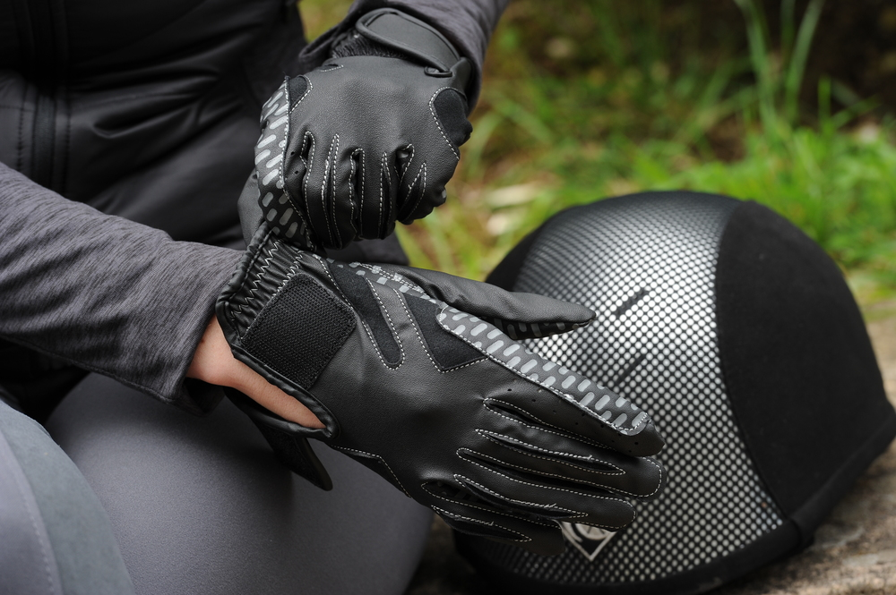 Your riding gloves should be easy to put on