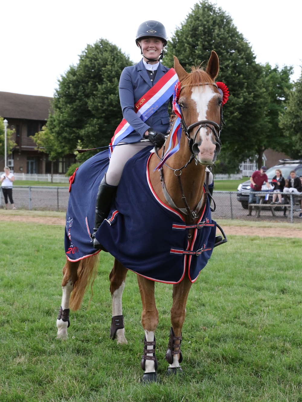 Individual winner of the 1.10 BS Just for Schools Championship Asha Smith riding Armani Pullman (Credit: 1st Class Images)