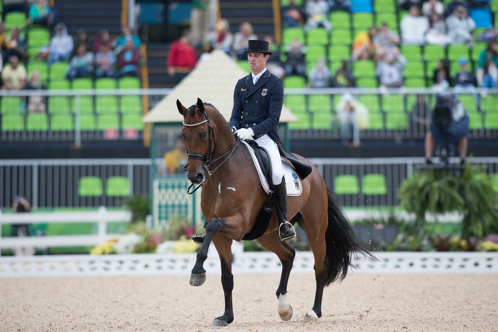 Sonke Rothenberger riding nine-year-old Cosmo (Credit: Hippo Photo - Dirk Caremans/FEI)